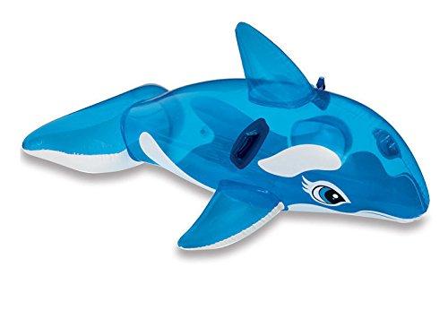 Viscio trading 124737 cavalcabile orca, azzurro, 163x86x1 cm,