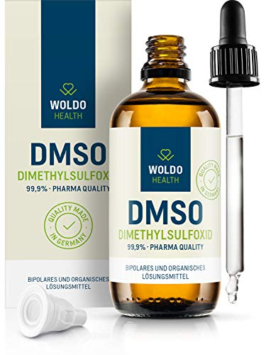 DMSO in 99,9{e74c8d1c9c99fdee6ce877b511c15d62af75429739cd85b279443c3a3b6760c4} pharmazeutische Qualität 100ml Dimethylsulfoxid - inkl. Tropfverschluss