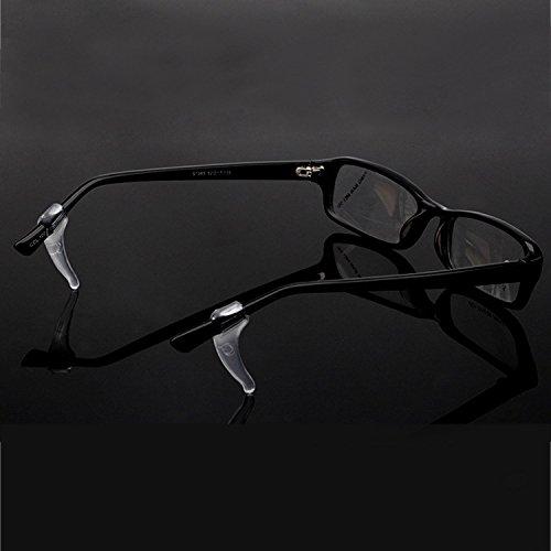 Vococal - 20 paia Orecchio Antiscivolo Grip Gancio Supporto Silicone Trasparente per Occhiali da Vista Occhiali Tempio Punta,L