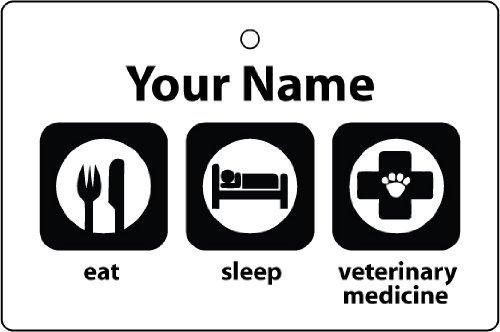 AAF Ambientador De Coche Personalizado EAT SLEEP VETERINARY MEDICINE