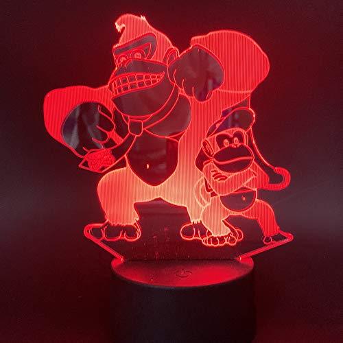 King Kong 2 Nachtlicht Lampe 7 Farbwechsel Led Touch Usb Tisch Geschenk Kinder Spielzeug Dekor Dekorationen Weihnachten Valentinstag Geschenk Geburtstagsgeschenk