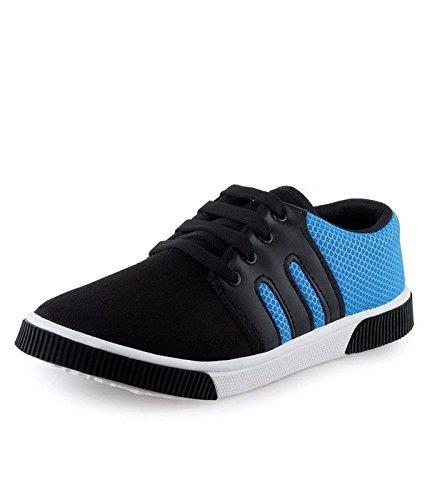Axter Men's Blue & Black Canvas Casual Shoes-9