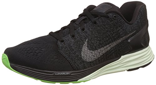 Nike Women's Nike Lunarglide 7 Lb Black, Anthracite, Barely Green and Metallic Pewter Running Shoes - 6 UK/India (40 EU)(7 US)  available at amazon for Rs.5348