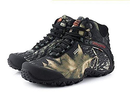 SANANG Hommes Sneakers Camouflage Chaussures de randonnée en trekking Gris