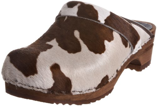 Sanita Damen Caroline open Clogs, Mehrfarbig (Brown Cow 3), 39 EU