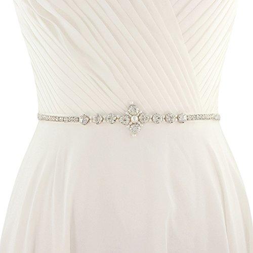 TOPQUEEN Hochzeits-Gürtel-Hochzeits-Schärpe-Brautgurt-Brautschärpe für Hochzeits-Diamant…