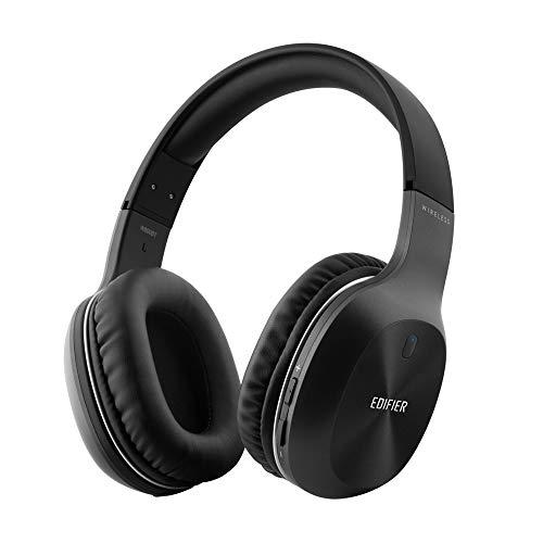 Bluetooth-Kopfhörer, Edifier W800BT Over-Ear Wireless-Headset, Hi-Fi-Stereo Geräuschreduzierendes Mikrofon, unterstützt Freisprechfunktion und Kabel-Modus für Handys/TV/PC/Laptop-Schwarz