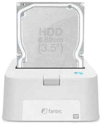 FANTEC MR-USB 3.0 Dockingstation (für 6,35 cm (2,5 Zoll) und 8,89 cm (3,5 Zoll) SATA I/II/III Festplatten und SSDs, USB 3.0 SUPERSPEED Anschluss) weiss