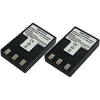 2 x Dot.Foto Batterie de qualité pour Canon NB-1L, NB-1LH - 3,7v / 1000mAh - garantie de 2 ans - Canon Digital IXUS 200a, 300, 300a, 320, 330, 400, 430, 500, V, V2, V3, VII