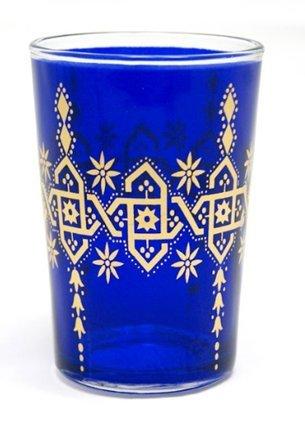 Marokkanische Arabesque Tee Set aus 6-Gläser blau Arabesque Tee