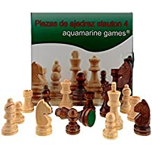 Aquamarine Games Piezas DE AJEDREZ STAUTON 4 Color Beige y Marron Oscuro Miscelanea CP029A