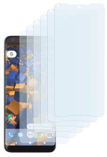 mumbi Schutzfolie kompatibel mit Google Pixel 2 XL Folie klar, Displayschutzfolie (6X)