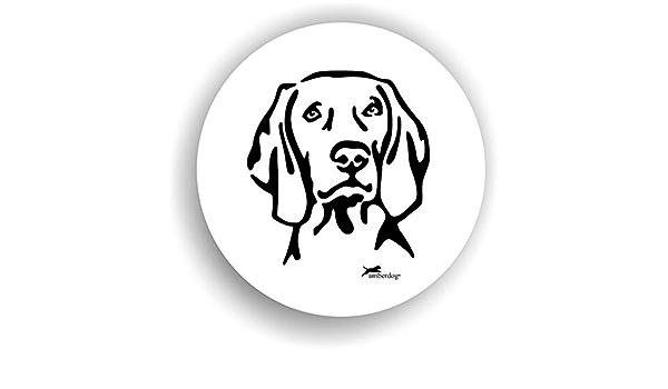 Amberdog Hunde Weimaraner Sticker Auto Aufkleber Art Stk0208 Autoaufkleber Aufkleber Wohnmobil Wohnwagen Küche Haushalt
