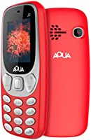 Aqua J3 - 1.8 Inch Display Dual SIM Basic Keypad Mobile Phone with 800 mAh Battery and Vibration Feature - Red