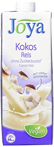 Joya Milchalternativen Kokos-Reis Drink - Kokos-Reismilch, vegan, Laktosefrei, ohne Zuckerzusatz - Reismilch vereint mit der Frische echter Kokosnussmilch - 10er Pack (10x1l)