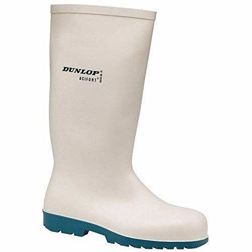 Bottes de sécurité Dunlop A681331 HEVEA Acifort pour homme Blanc
