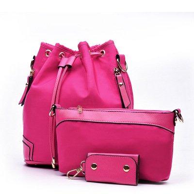 Mefly Uno Zaino Tutto-Match Fashion Bag Black Plum red