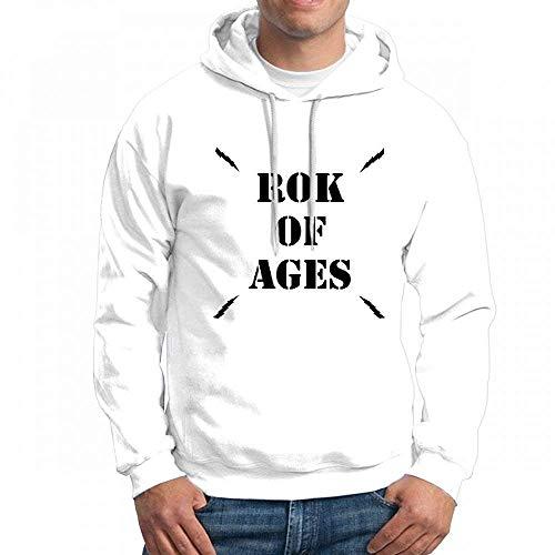 qingdaodeyangguo Custom Rok of Ages Logo Men's Pullover Logo Hoodie Custom Sweater