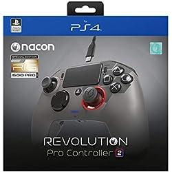 NACON PS4OFPADREV2RIG Accessoire de Jeux vidéo Manette de Jeu Playstation 4 Noir - Accessoires de Jeux vidéo (Manette de Jeu, Playstation 4, Analogique/Numérique, Options,Share, avec Fil, USB 3.0)
