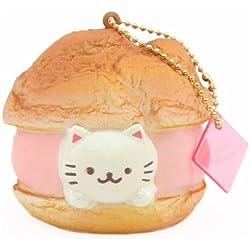 Kawaii Squishy de profiterol bomba de crema con gato Cafe Sakura de NIC