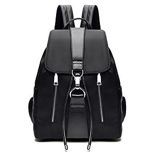 416aMtMw67L. SS300  - TIBES Mochila impermeable mochila de nylon de moda para las niñas Negro