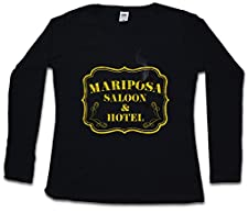 Mariposa Saloon & Hotel Mujer Woman T-Shirt De Manga Larga– Tamaños XS – 2XL