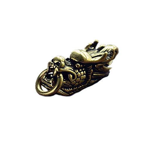 ZFW Auto Keychain Reines Kupfer Retro Wasserhahn Anhänger Messing Verheißungsvollen Drachenkopf Schlüsselanhänger Zubehör Korrosionsbeständigkeit, hohe Härte -