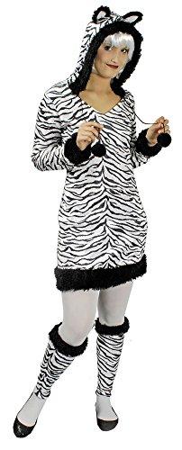 faschingskostueme dschungel Zebra Kostüm für Damen Gr. 34 - Hochwertiges Damenkostüm für Theater, Karneval oder Mottoparty