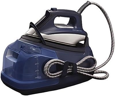 Rowenta Silence Steam Extreme DG8580F0 - Centro de planchado (autonomía ilimitada, 6,5 bares de presión, golpe de vapor 400 g/min, suela Microsteam Laser 400, función Eco), color azul
