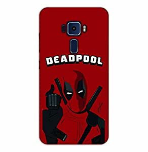 Happoz ASUS Zenfone 3 Deluxe (ZS570KL) Cases Back Cover Mobile Pouches Shell Hard Plastic Graphic Armour Premium Printed Designer Cartoon Girl 3D Funky Fancy Slim Graffiti Imported Cute Colurful Stylish Boys D293