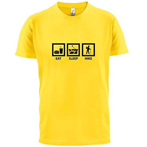 Eat Sleep Hike - Herren T-Shirt - 13 Farben Gelb