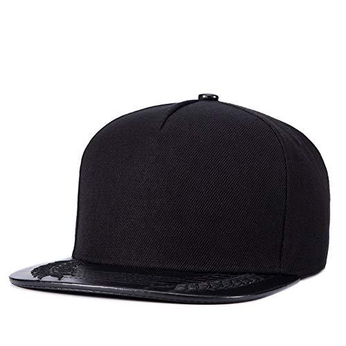 GMZXX Fashion Herren und Damen Baseballmütze Baseball Caps Wheat Bones Black Herren Full Plain Hat Snap Back
