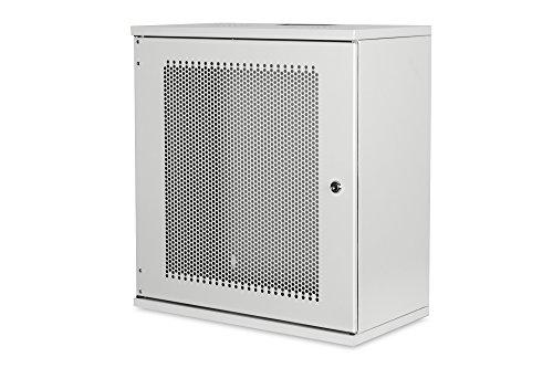 DIGITUS Netzwerk-Schrank 19 zoll 12 HE - unmontiert - Wandmontage - 400 mm Tiefe - Traglast 60 kg - Perforierte Tür