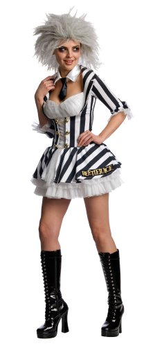 Miss Beetlejuice - Secret Wishes - Adult Fancy Dress Costume. Sizes S, M or L