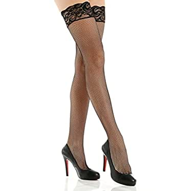 Shirley of Hollywood Number 90013 Back Seam Lace Fishnet