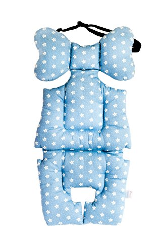 Atmungsaktive 3D Einlage / Auflage für Kinderwagen mit 3D Abstandsgewebe   Universal für alle Kinderwagen   Sommer-Sitzeinlage   Winter - Sitzauflage für Buggy   PREMIUM QUALITÄT   SUPER DESIGN