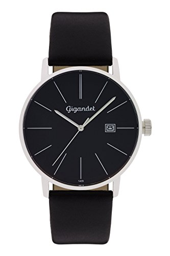 Gigandet Men's Quartz Watch Minimalism Analogue Leather Strap Black G42-002