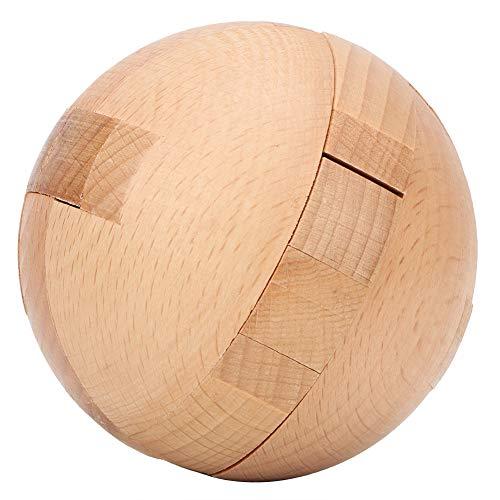 Zerodis Hölzerne Magic Ball Puzzle Rätsel Sphere Puzzles Spielzeug Intelligenz Ball Lock Spiel für Erwachsene Kinder -