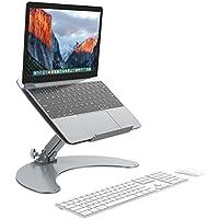 SLYPNOS - Soporte de Portátil Ergonomía Ajustable para Macbook Ordenador Portátil, Laptop, tableta, Libros, Hecho de Aleación de Aluminio para Refresco y Durable - Plata