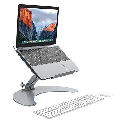 """SLYPNOS Support Ordinateur Portable, Support Tablette, avec Radiateur Refroidisseur, Anti-dérapant pour Ordinateur Portable Tablette PC 13""""-17"""" -【Argent】"""