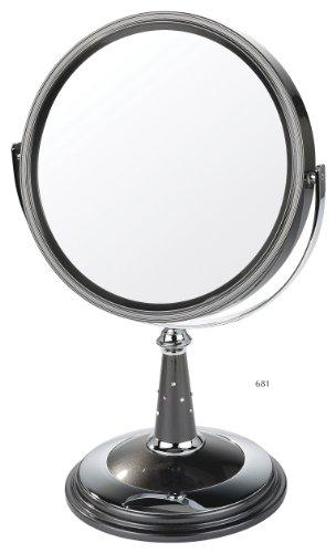 Danielle Miroir sur pied grossissant x 10 20 cm (Perle noire/chrome)