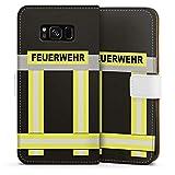 DeinDesign Samsung Galaxy S8 Tasche Leder Flip Case Hülle Feuerwehr Feuerwehrmann Firefighter