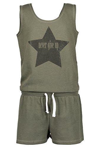 BLUE SEVEN Trendy Jumpsuit - Mädchen Kinder Jumpsuit Sommermode für Teens Rundhals Print trendy Styles oliv,164