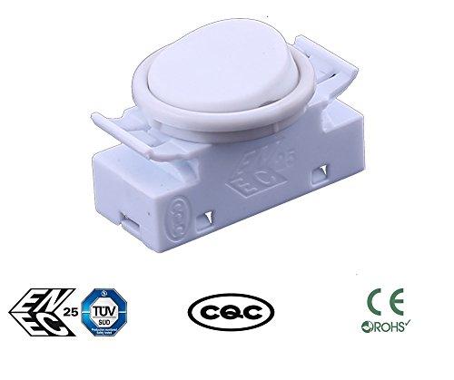 Rv Rocker Switches (Greenway weiß 2A 250VAC On-Off-Round Rocker Button Switches für Auto Boot Armaturenbrett UK Verkäufer)
