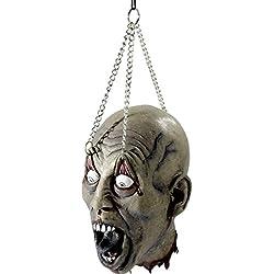 Cabeza de zombie arrancada decorativa accesorios horror terror Halloween