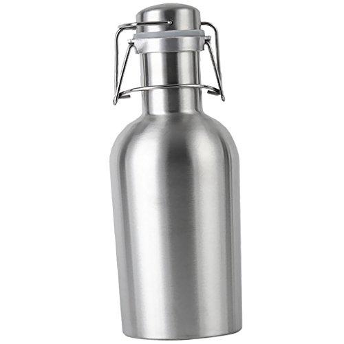 Sharplace Schwingen Top Thermosflasche Flachmann Trinkflasche Edelstahl Wasserflasche - Silber, 1L