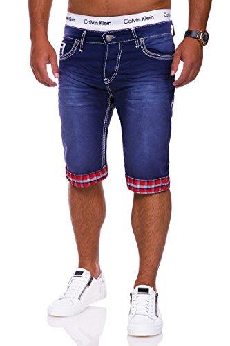 MT Styles Jogg-Jeans Bermuda Shorts RJ-4017 [Dunkelblau, W32] (Denim Bermuda Jean Shorts)