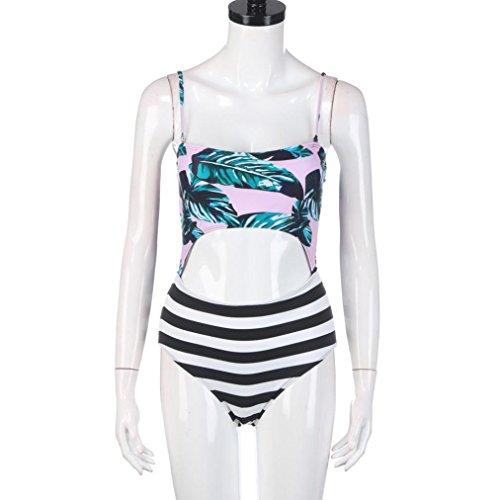 2017 Maillot de Bain, Xinan Femmes Swimwear Bikini rayé Tankini Beachwear Vert