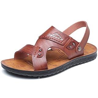 Femaroly Beach Shoes Men Sandals Summer Open Toe Breathable Magic Slipper Brown 6UK