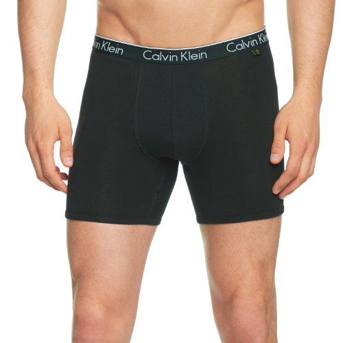Calvin Klein underwear Herren Boxershorts CK ONE COTTON - BOXER BRIEF, Schwarz (Black 001), Large (Herstellergröße: L)